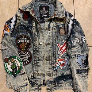 Vintage NBA jean jacket.